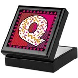 The Letter Q Keepsake Box