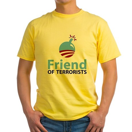 Obama Friend of Terrorists Yellow T-Shirt
