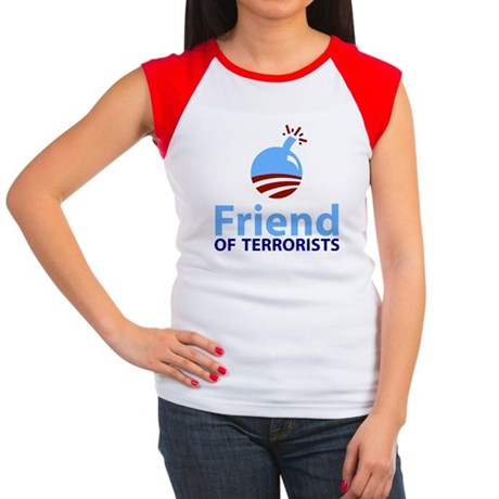 Obama Friend of Terrorists Women's Cap Sleeve T-Sh