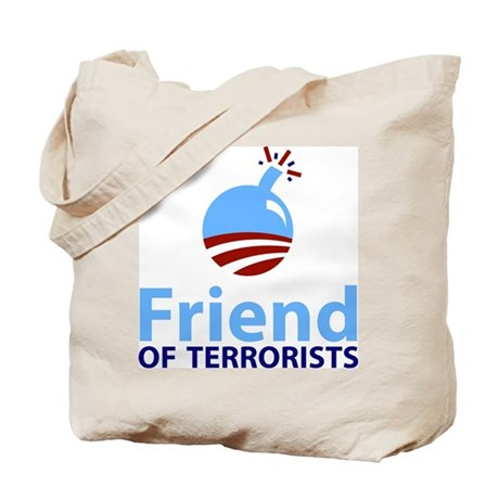 Obama Friend of Terrorists Tote Bag