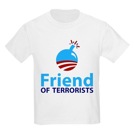 Obama Friend of Terrorists Kids Light T-Shirt