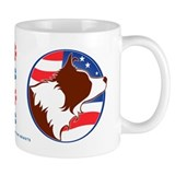 Border Collie R&amp;W Flag Small Mug
