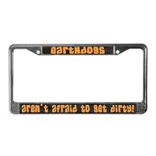 Get Dirty Earthdog License Plate Frame