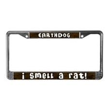 I Smell a Rat Earthdog License Plate Frame