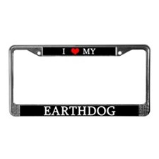 I Love My Earthdog License Plate Frame