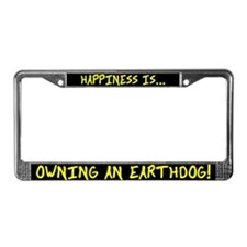 Happiness Owning an Earthdog License Plate Frame