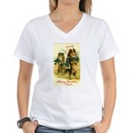 Collie Christmas Women's V-Neck T-Shirt