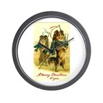 Collie Christmas Wall Clock