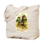 Collie Christmas Tote Bag