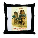 Collie Christmas Throw Pillow