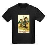 Collie Christmas Kids Dark T-Shirt
