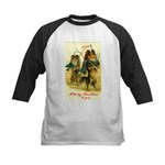 Collie Christmas Kids Baseball Jersey