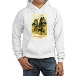 Collie Christmas Hooded Sweatshirt
