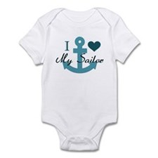 I Love My Sailor Infant Bodysuit