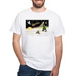 Night Flight/ Silky Ter 14 White T-Shirt