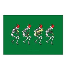 Xmas Brass Band Skeletons Postcards (Package of 8)