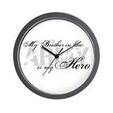 Brother-in-law is my Hero ARMY Wall Clock