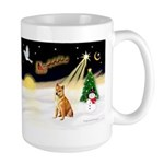 Night Flight/Shiba Inu #7 Large Mug