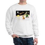Night Flight/Shiba Inu #7 Sweatshirt