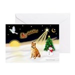 Night Flight/Shiba Inu #7 Greeting Card