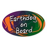 Earthdog on Board Oval Decal