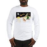 Night Flight/Pomeranian #2 Long Sleeve T-Shirt