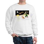 Night Flight/Pomeranian #2 Sweatshirt