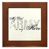 Dad is my Hero ARMY Framed Tile
