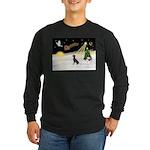 Night Flight/Manchester T Long Sleeve Dark T-Shirt
