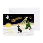 Night Flight/Manchester T Greeting Cards (Pk/20)