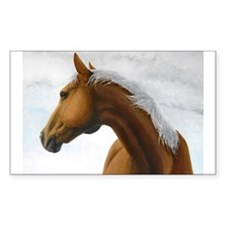 Palomino Stallion Rectangle Decal