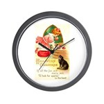 Apple Bobbing Wall Clock