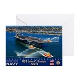 USS John C. Stennis CVN-74 Greeting Card
