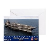 USS Harry S. Truman CVN-75 Greeting Cards (Pk of 1