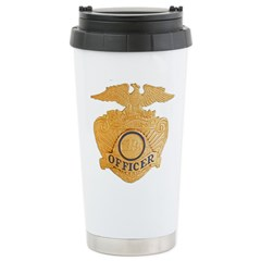 Officer Badge Ceramic Travel Mug