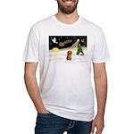 Night Flight/Dachshund LH Fitted T-Shirt