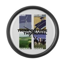 Think Outside the Barrel Large Wall Clock