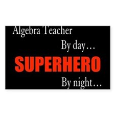 Superhero Algebra Teacher Gift Rectangle Decal