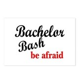 Bachelor Bash, Be Afraid Postcards (Package of 8)