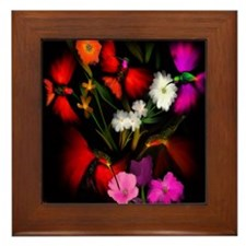 HUMMINGBIRD BOUQUET -Framed Tile