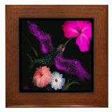 HUMMINGBIRD - Framed Ceramic Tile