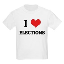 I Love Elections Kids T-Shirt
