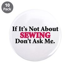 "Sewing 3.5"" Button (10 pack)"