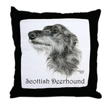Scottish Deerhound Throw Pillow