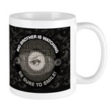 Big Brother is Watching You Black Small Mugs