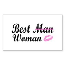 Best Woman Rectangle Decal