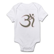 Om Green-Pink Infant Bodysuit