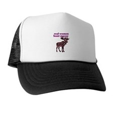 Real Women Hunt Moose Trucker Hat