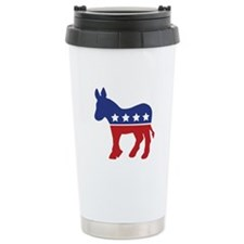 Democrat Donkey Ceramic Travel Mug