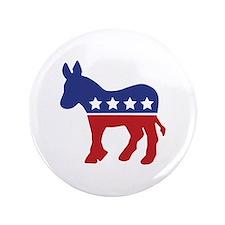 "Democrat Donkey 3.5"" Button"